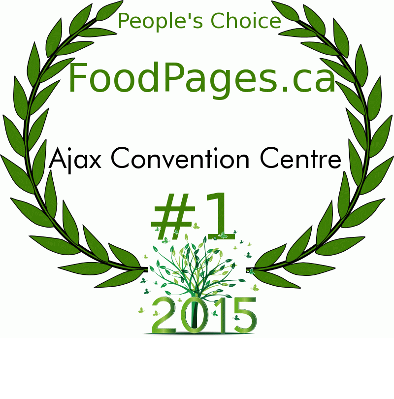 Ajax Convention Centre FoodPages.ca 2015 Award Winner