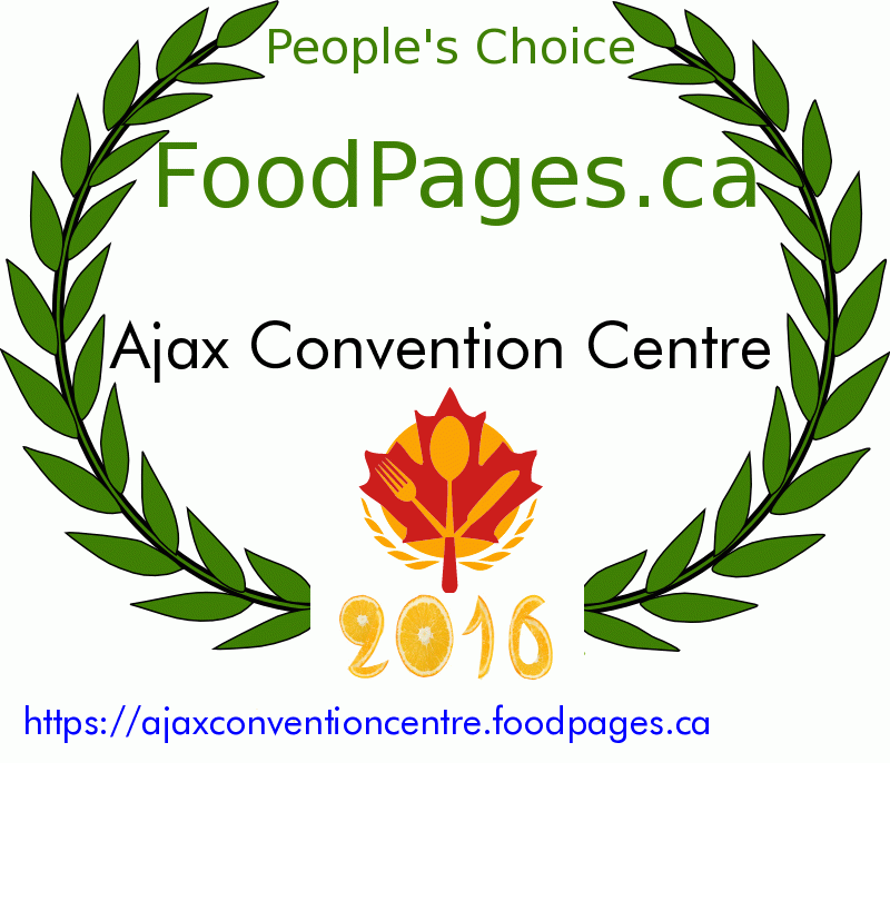 Ajax Convention Centre FoodPages.ca 2016 Award Winner